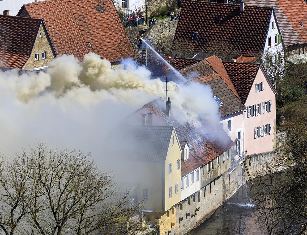 Großbrand in der Besigheimer Vorstadt.