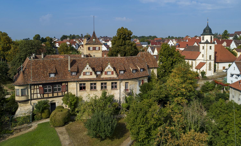 Kleiningersheim, Schloss und Georgskirche