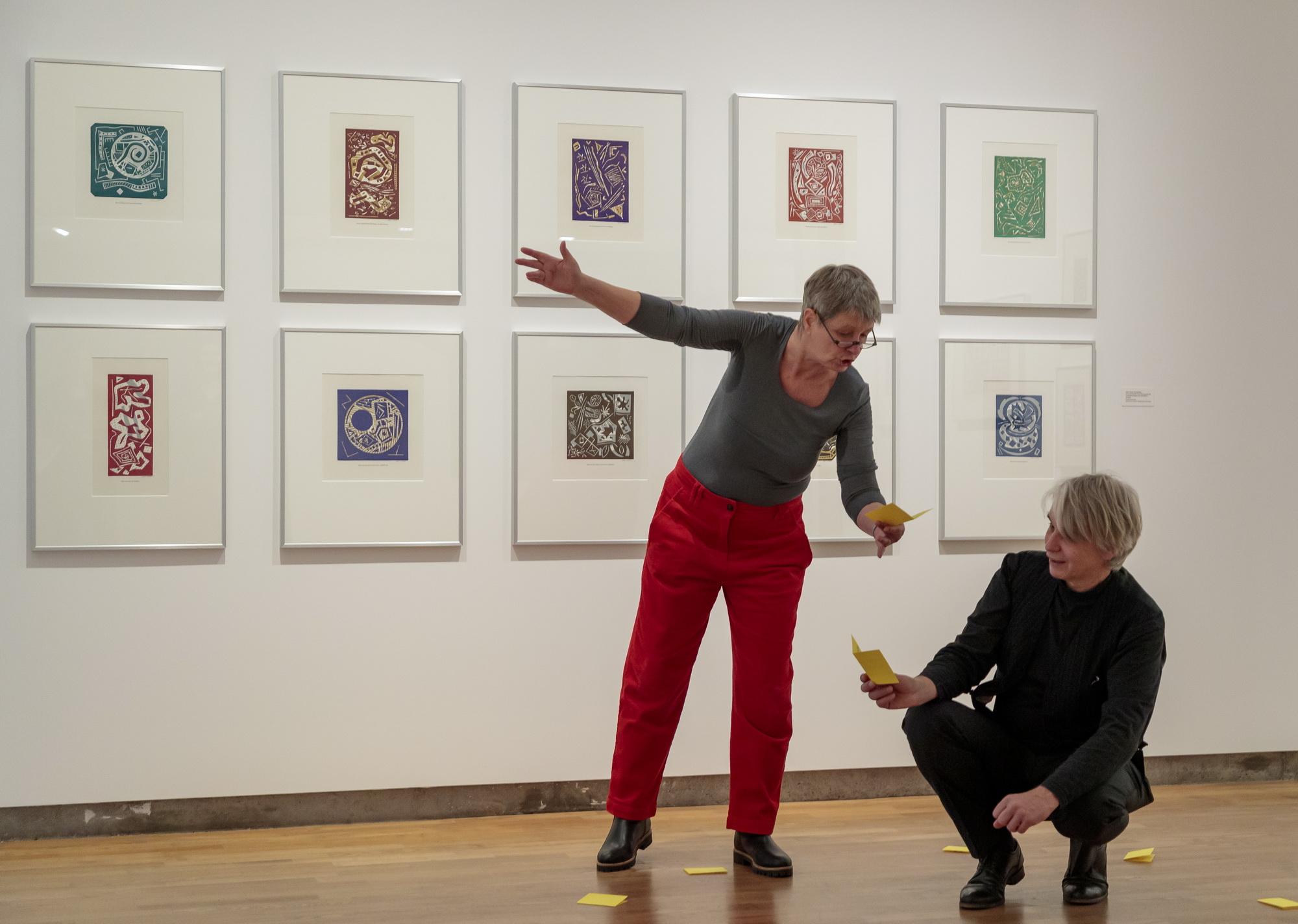 """Szenische Rezitation mit Lisa Kraus und Rüdiger Erk: """"Meine Malerei ist Dichtung, die Schwester meiner Wortkunst"""", Städtische Galerie."""
