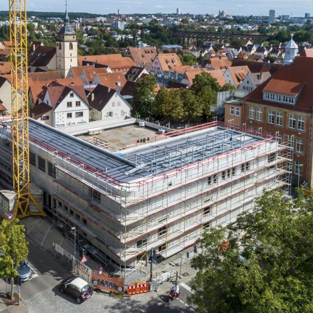 Bietigheim: Hillerschule, Bau neue Sporthalle