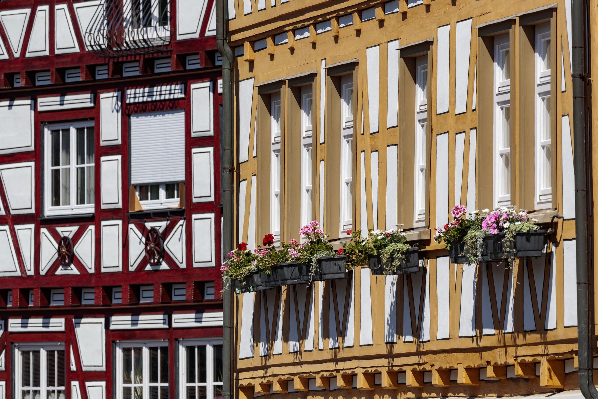 Gemmrigheim: Fachwerk Rathaus und Geschäftshaus