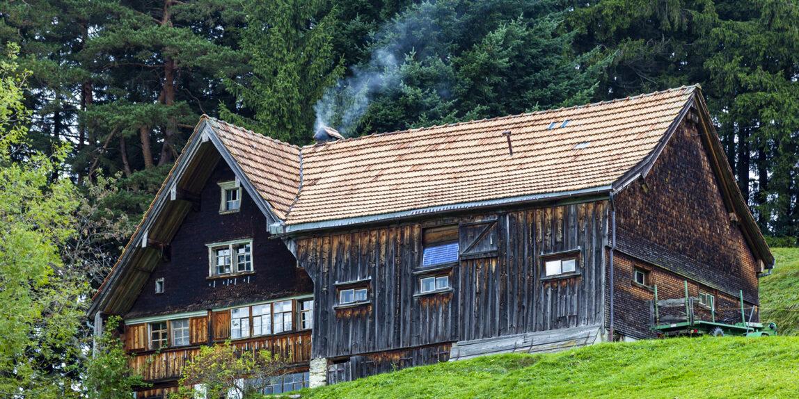 Bauernof in Erbschrut, Halbkanton Appenzell Ausserrhoden, CH